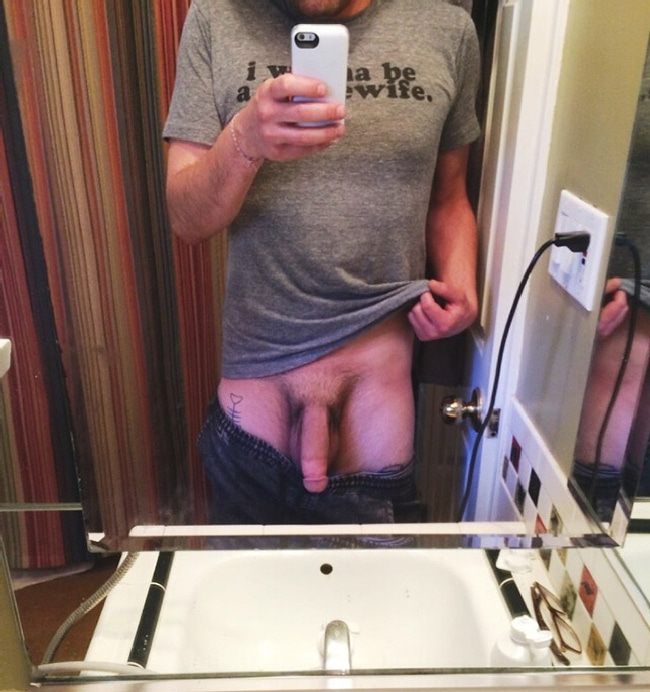 Clothed Boy Showing Cock