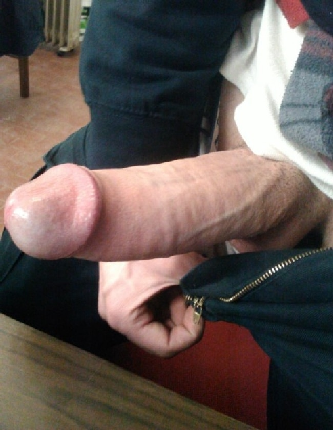Guy Taking Out His Hard Uncut Cock - Nude Gay Men