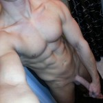 Sexy Nude Muscle Boy Jerking Off