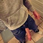 Big Hard Cock Hanging Out Of Jeans