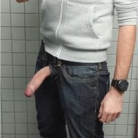 Cock Out Of Jeans