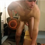 Nude Horny Guy Working Out