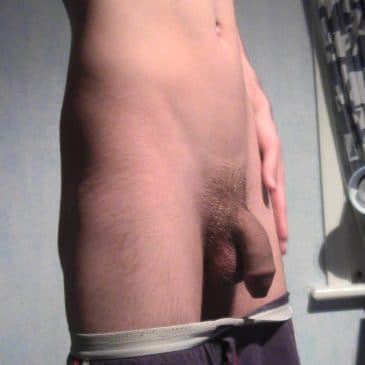 Boy with flaccid penis